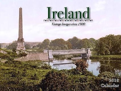 2018 ireland wall calendar vintage