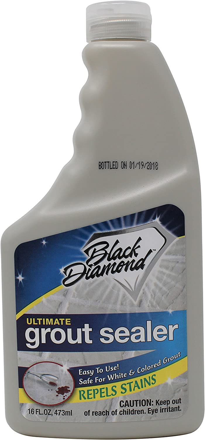 Black Diamond Stoneworks Ultimate Grout Sealer: Stain Sealant Protector for Tile, Marble, Floors, Showers and Countertops. (1-Pint)