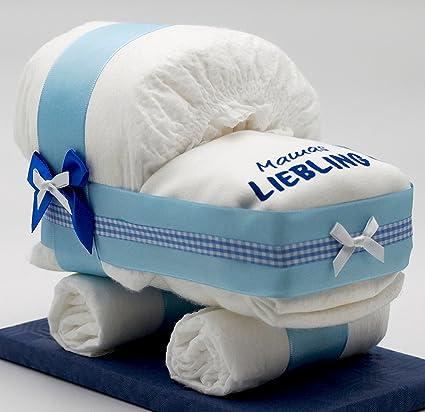 pañales Mundial de tartas pequeñas Tarta Pañales Pañales carro Azul para joven – con babero