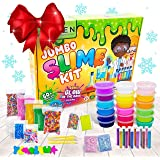 Zen Laboratory DIY Slime Kit Toy for Kids Girls Boys Ages 3-12, Glow in The Dark Glitter Slime Making Kit - Slime…