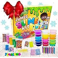Zen Laboratory DIY Slime Kit Toy for Kids Girls Boys Ages 5-12, Glow in The Dark Glitter Slime Making Kit - Slime…