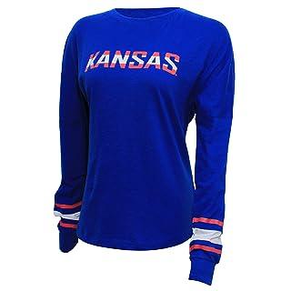 NCAA Kansas Jayhawks Women's Campus Specialties Long Sleeve Fan Tee, XX-Large, Royal