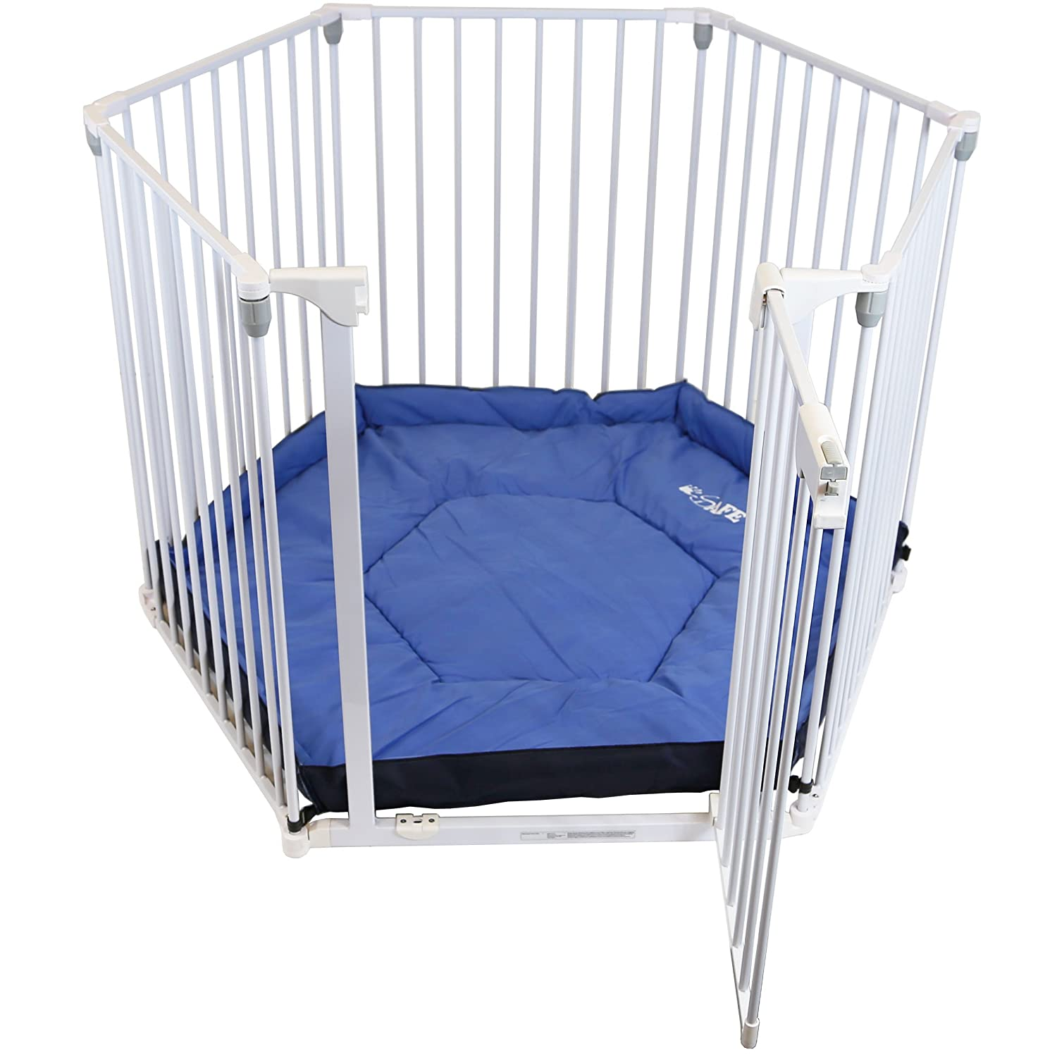 iSafe Metal Playpen 3in1 Fire Guard Room Divider