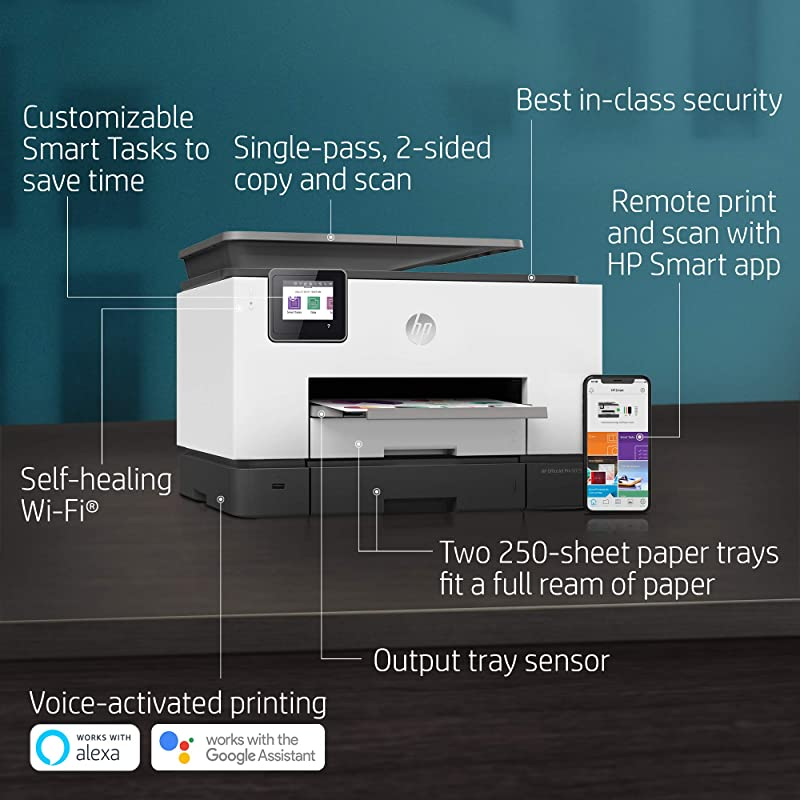 HP OfficeJet Pro 9025 All-in-One Wireless Printer, Single-pass (Automatic) Document