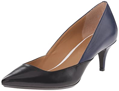 Calvin Klein Women's Patna Dress Pump, Black/Marine, ...