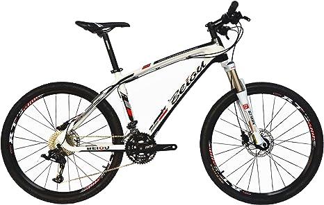 BEIOU® de Fibra de Carbono de Bicicletas de montaña MTB Rígidas ...