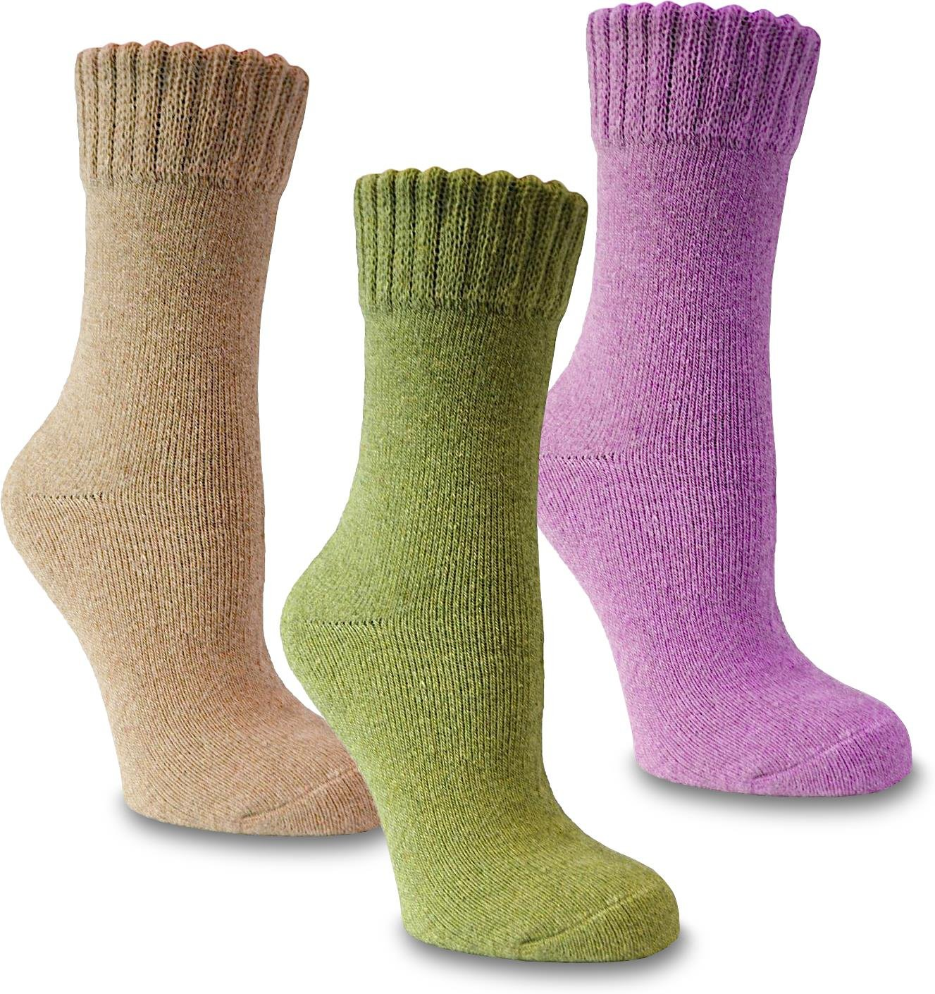 3 Paar Damen Angora Wollsocken - warme Wintersocken