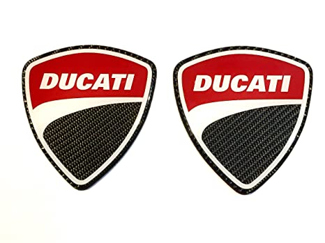 Rz Fit Ducati Stickers For Car Track Tank Large Carbon Fiber Decals 4 Height 2 Pcs