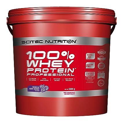 Scitec Nutrition Whey Protein Professional proteína vainilla-frutas del bosque 5000 g