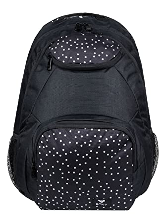 Roxy Shadow Swell Mochila Mediana, Mujer, Gris/Negro (True Black Dots for Days), 24 l: Amazon.es: Deportes y aire libre