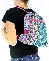 Enimay Women's Yoga Athletic Sports Sling Bag Drawstring Back Pack