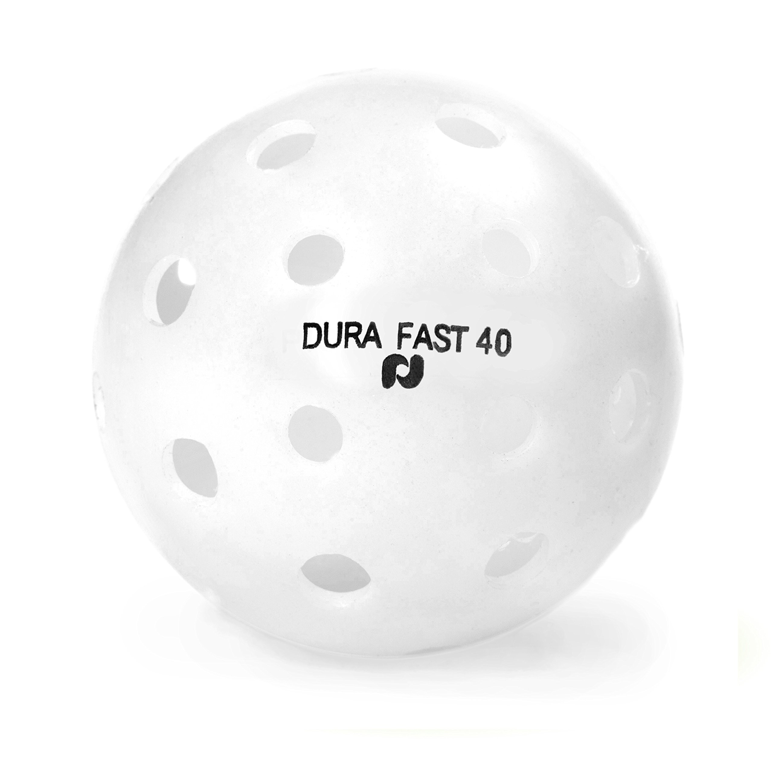 Dura Fast 40 Pickleballs | Outdoor pickleball balls | White | Pack of 6 | USAPA Approved and Sanctioned for Tournament Play, Professional Perfomance by Pickle-Ball