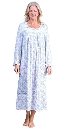 Eileen West Nightgowns Long Sleeve Woven Rayon in Nocturne Floral at Amazon  Women s Clothing store  40d3abbb1