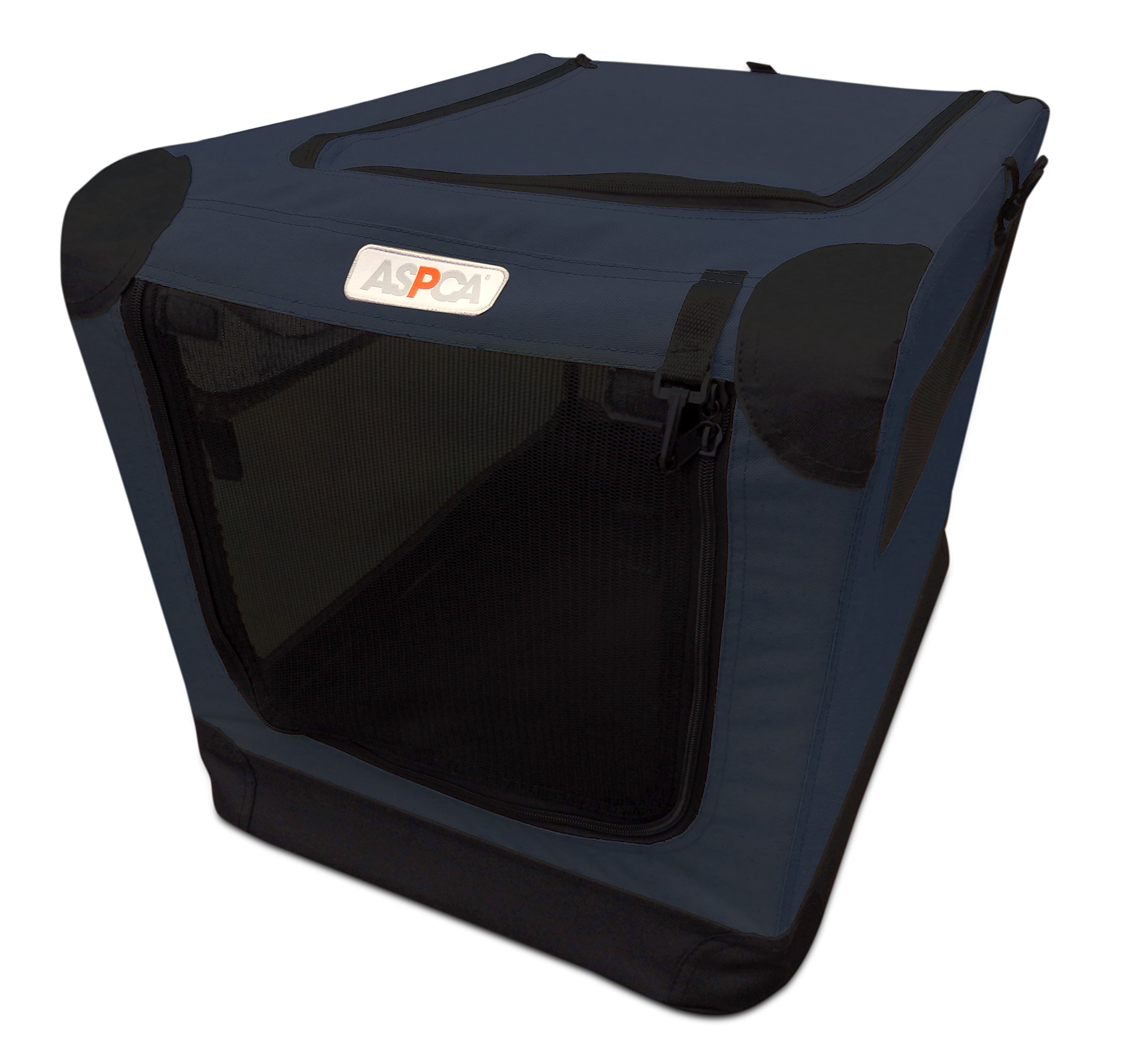 ASPCA Soft Crate, Large, Navy