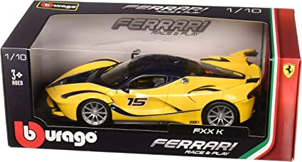 Ferrari FXX K 2014 #15 Yellow 1:24 Model BBURAGO Kers