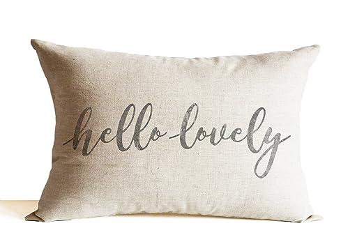 Amore Beaute Hello Lovely, funda de almohada de lino, manta ...
