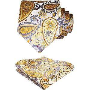 HISDERN Paisley Floral 6 Clips Suspendedor & Corbata de mono ...