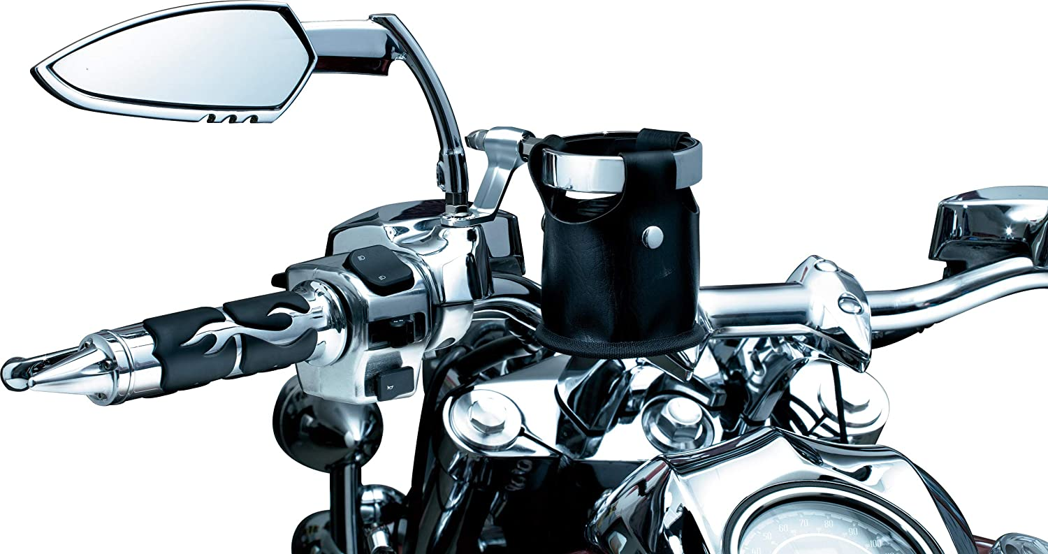 Universal Drink Ring Beverage//Cup Holder for Motorcycles with Perch Mount Chrome Kuryakyn 1500 Motorcycle Handlebar Accessory
