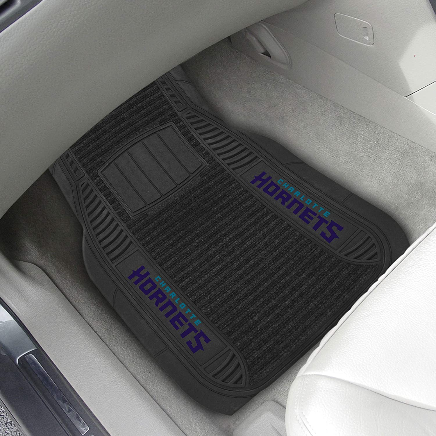 NBA Charlotte Hornets 2 Piece Deluxe Car Mat Set