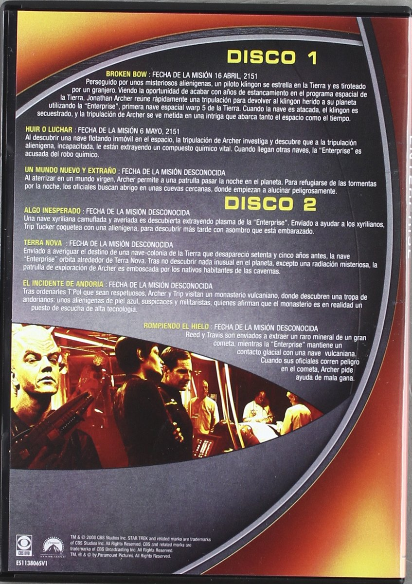 Star Trek Enterprise (1ª temporada) Repack [DVD]: Amazon.es: Scott Bakula, Linda Park, Mark Correy, Connor Trinneer, Anthony Montgomery, Jolene Blalock, ...