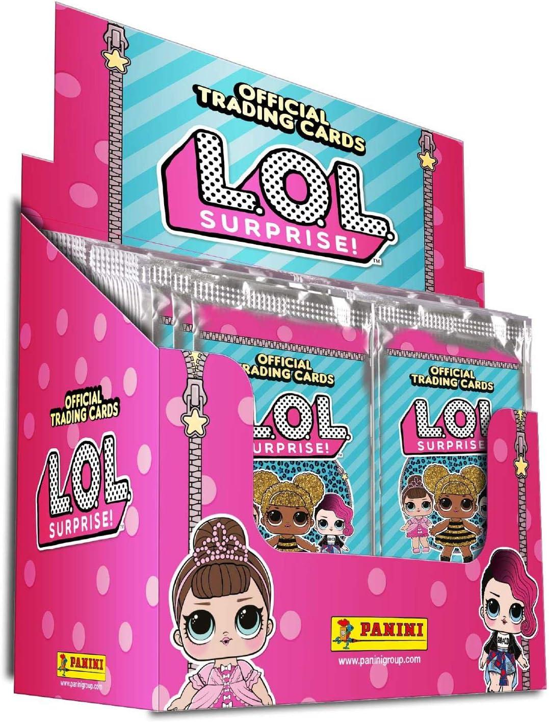 Panini L.O.L Surprise Colección de Tarjetas de Comercio Full Booster Box 50 Packs SUMINISTRADOS: Amazon.es: Juguetes y juegos