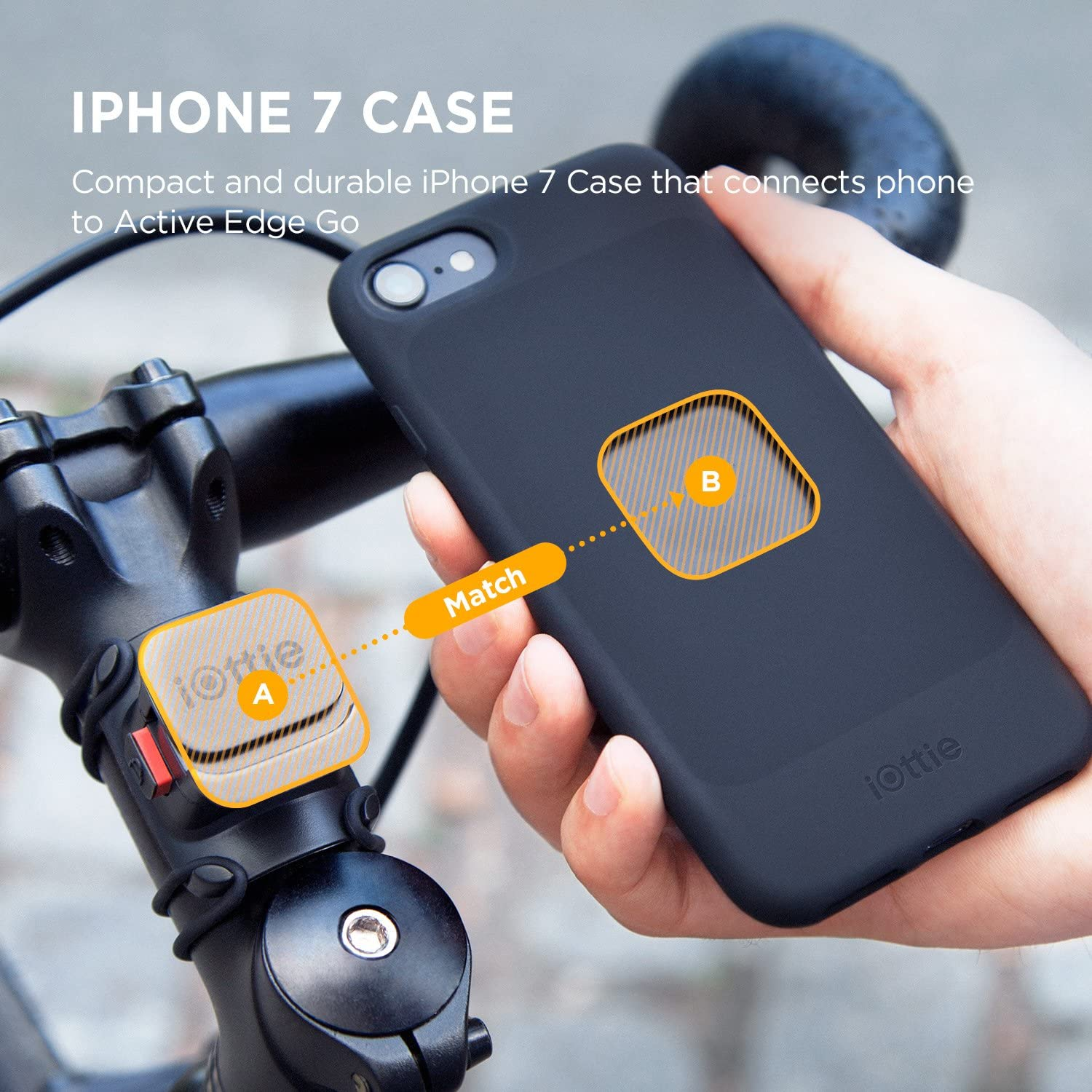 Universal Smartphone iPhone Xs Max R 8//8S 7 Plus 6S 6 SE Samsung Galaxy S8 Plus S8 Edge S7 S6 Note 8 5 iOttie Activeedge Go Bike Phone Holder Bar Mount