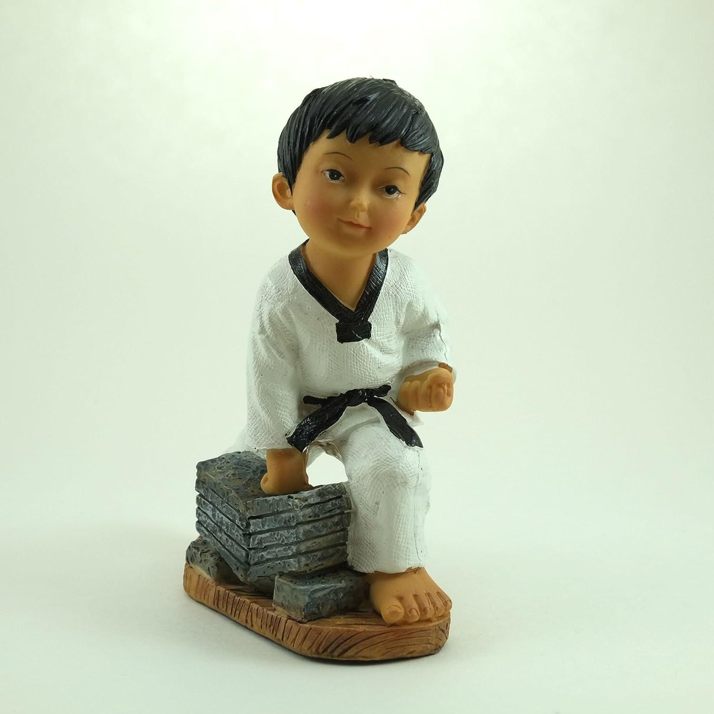 Martial Arts Figurine; Boy Breaking Bricks