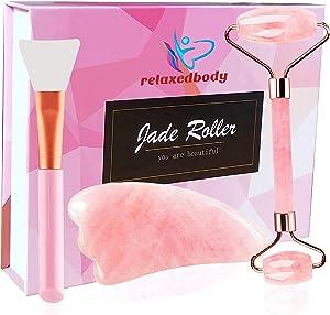 Giveaway: Jade Roller For Face & Gua Sha Set - 100% Natural Rose...
