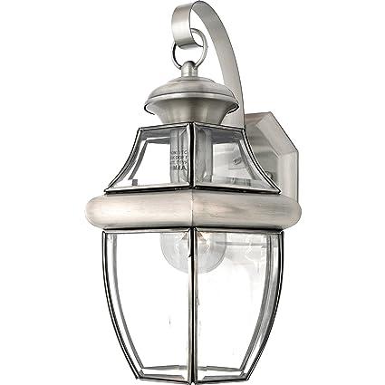 quoizel ny8316p newbury light outdoor wall lantern pewter burs