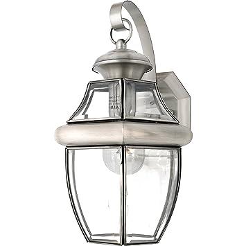 quoizel ny8316p newbury light outdoor wall lantern pewter wall