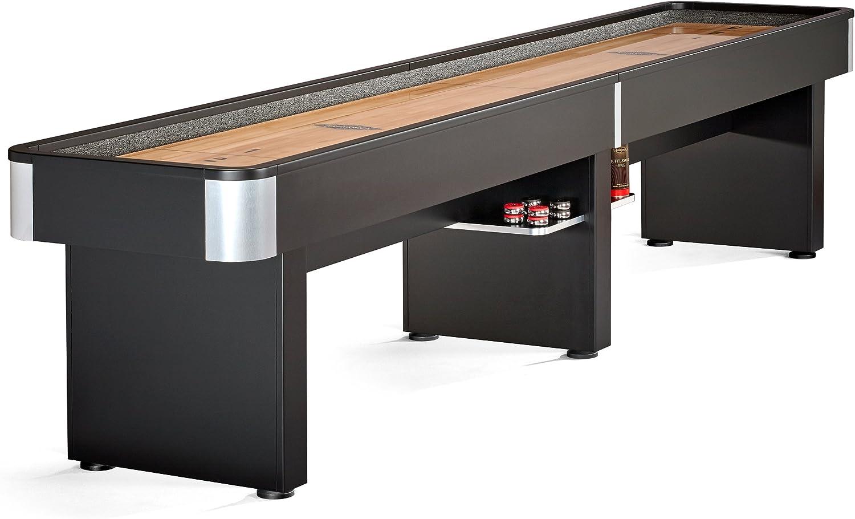 Brunswick Delray II 12-Foot Shuffleboard cuadro con 8 discos, Ábaco contador de y pierna niveladores. Incluye mesa y cepillo para cera.: Amazon.es: Deportes y aire libre