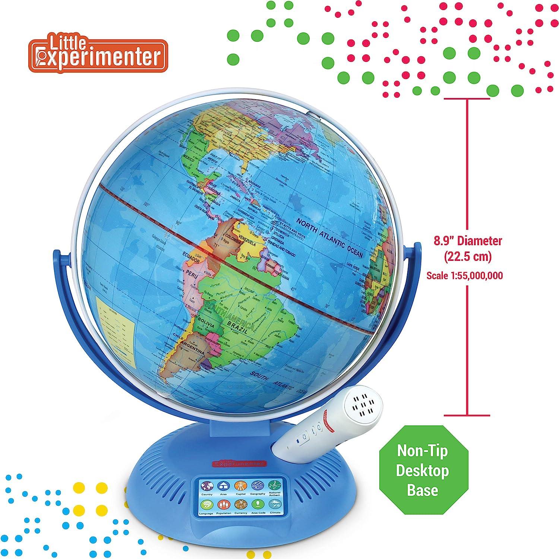 Little Experimenter Talking Globe - Globo interactivo para niños con bolígrafo inteligente - Globo educativo para niños con mapas interactivos - 9