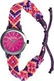 Kahuna Women's Quartz Watch with Pink Dial Analogue Display and Pink Fabric Strap KLF-0019L