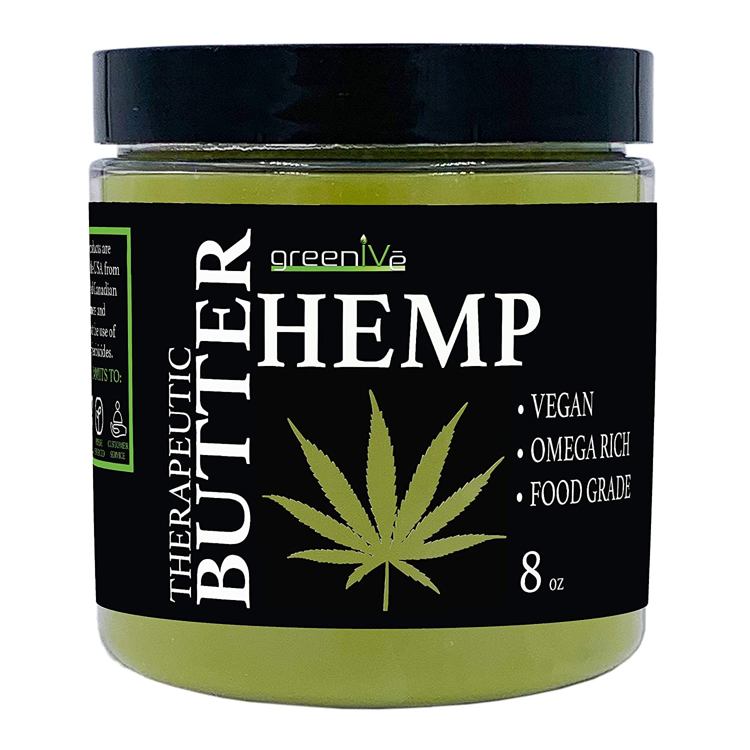 GreenIVe - Hemp Seed Butter - All Natural - Hemp Seed Butter - Exclusively on Amazon (8 Ounce)