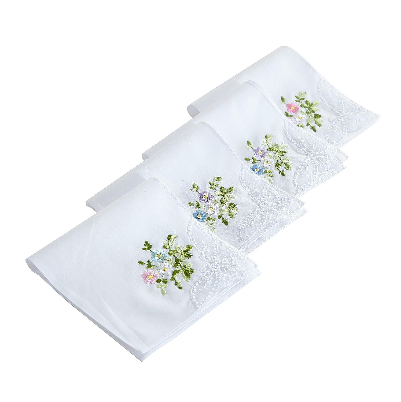 Cotton Embroidery Ladies' Handkerchiefs Lace Set of 6 B.T. zl-1