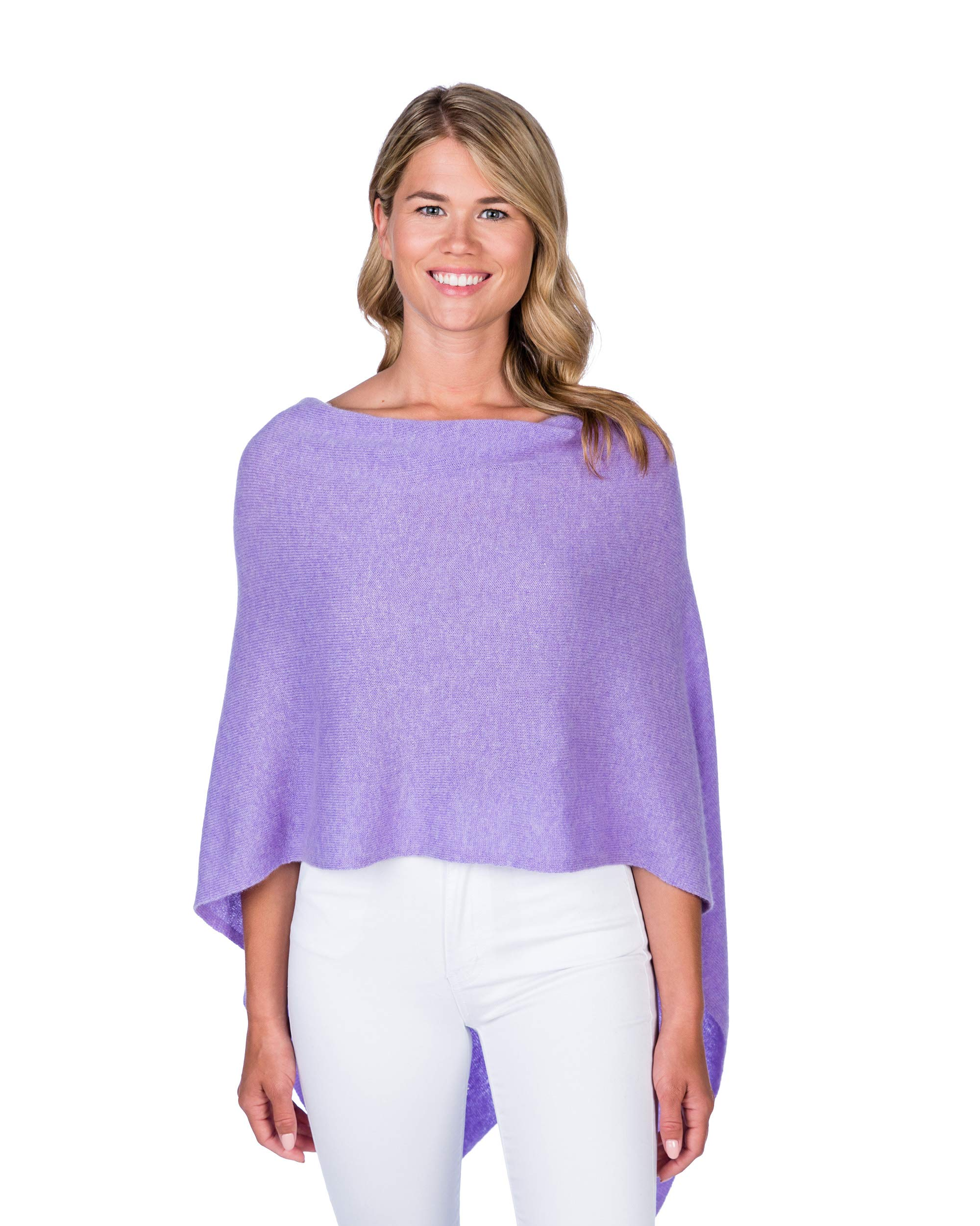 Alashan Cashmere Claudia Nichole Cashmere Draped Dress Topper - Lilac - 1469