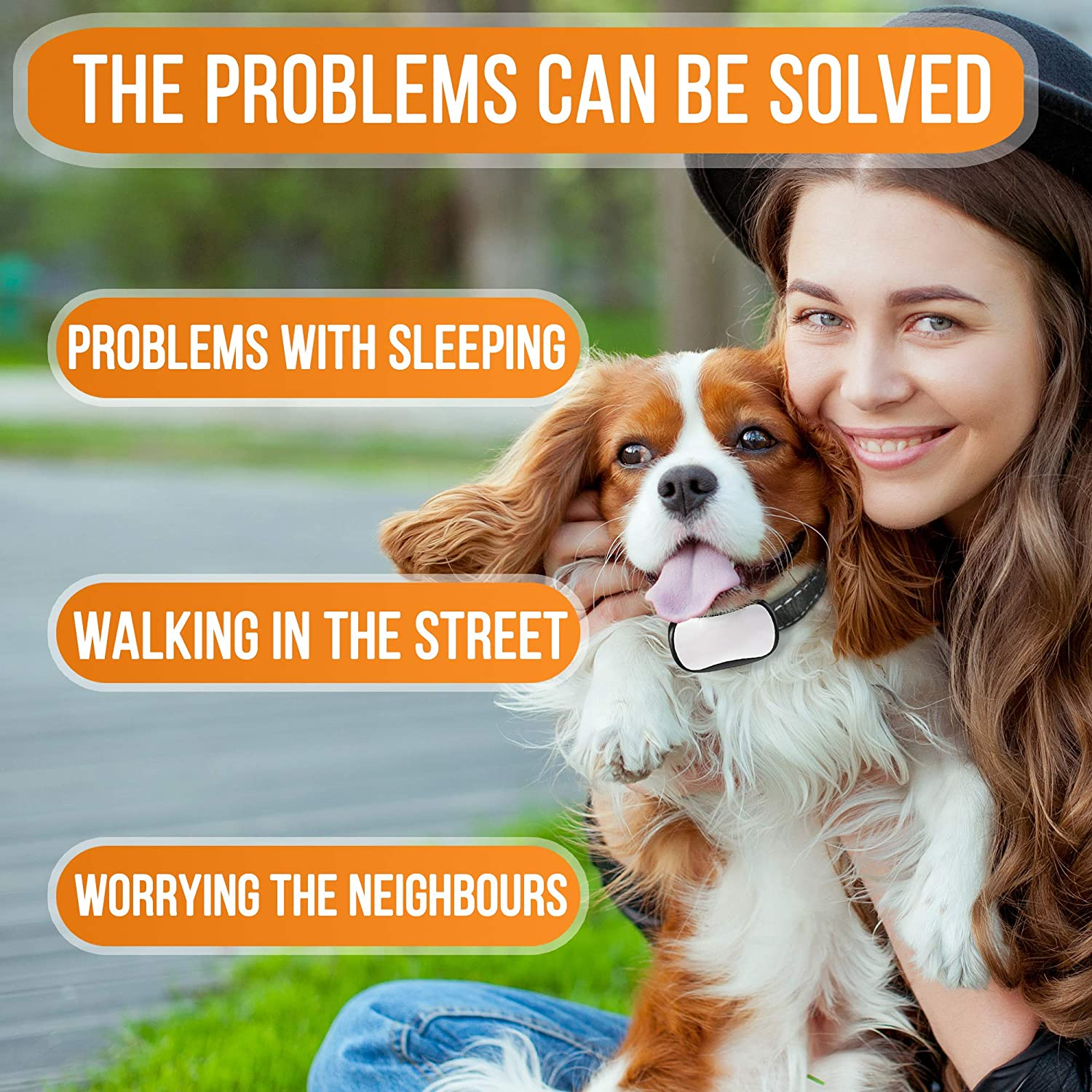 STOPWOOFER No Shock Humane and Effective Dog bark Collar for Small Medium and Large Dogs-Anti-Barking Collar Corrects Barking with Sound Warning and Vibration-Anti bark Collar no Dog Control
