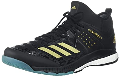 buy online 794c2 04c02 adidas Performance Mens Crazyflight X Mid Volleyball Shoes, Core  BlackGold MetIcey