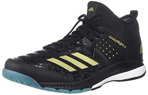 8cd037f2c Adidas Performance Men's Crazyflight X Mid Volleyball Shoes, Core  Black/Gold Met/Icey