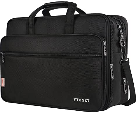 60ae1c0fe 18 Inch Laptop Bag, Extra Large Briefcase for Men Women, Expandable  Multifunctional Laptop Case