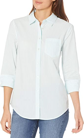 Straight blouse with three-quarter sleeves one-size-fits-all grey