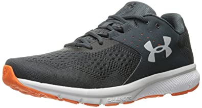 e28cd6478eb13 Under Armour Men s Charged Rebel Running Shoe Stealth Gray (008) Team  Orange 7