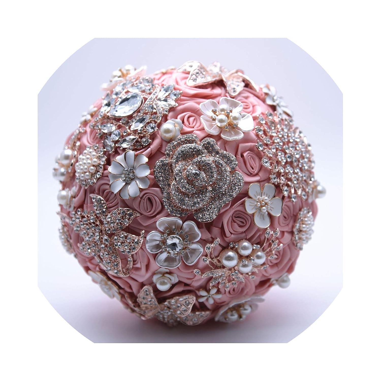 Amazon Com Jane Love Silk Wedding Flowers Rhinestone Jewelry