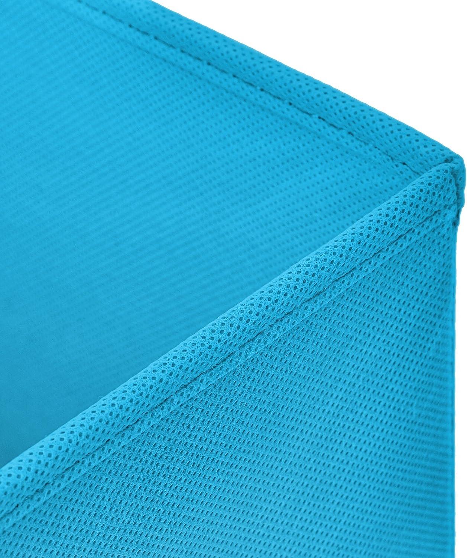 StickandShine 2er Set Blau Faltbox 28 x 28 x 28 cm Aufbewahrungsbox faltbar