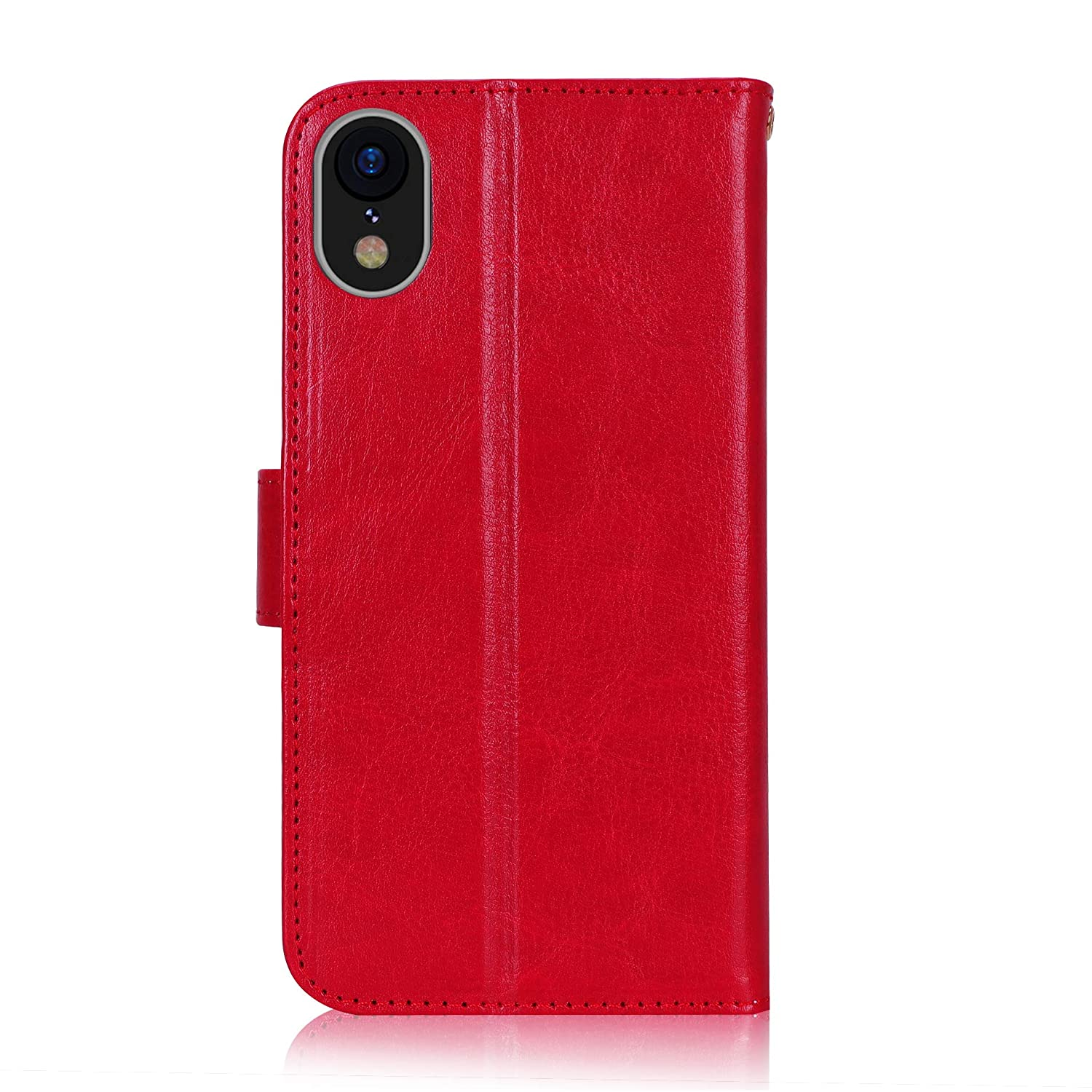 iPhone XR Case Card Slots 2018 Black Kickstand Flip Case for Apple iPhone XR 6.1 Inch fyy iPhone XR Wallet Case Premium Leather Protector Cover with