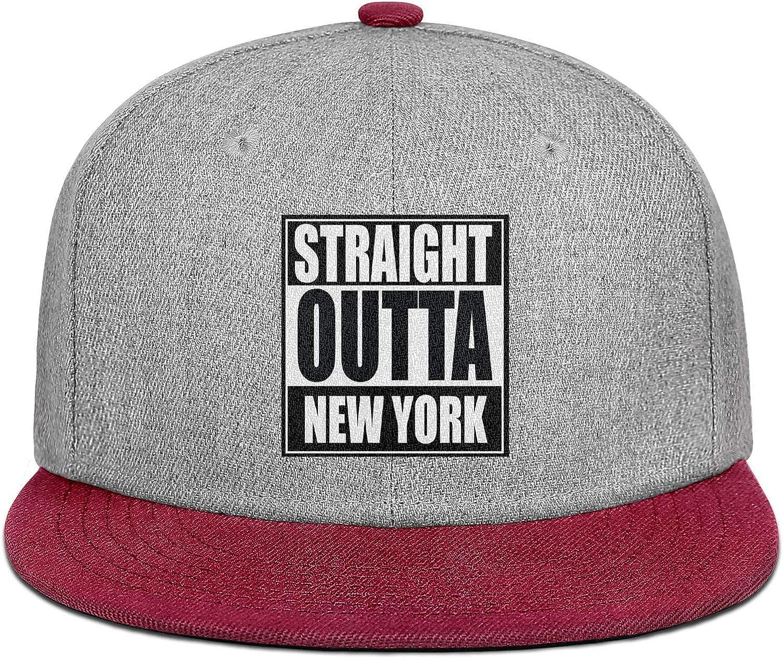 Mens Women Baseball Hats Straight Outta New York Snapback One Size Caps