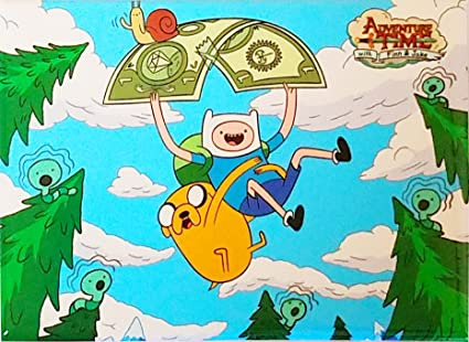 Amazon Com Adventure Time Cartoon Network Tv Show Finn And Jake Flying On One Dollar Bill Refrigrator Magnet Toys Games