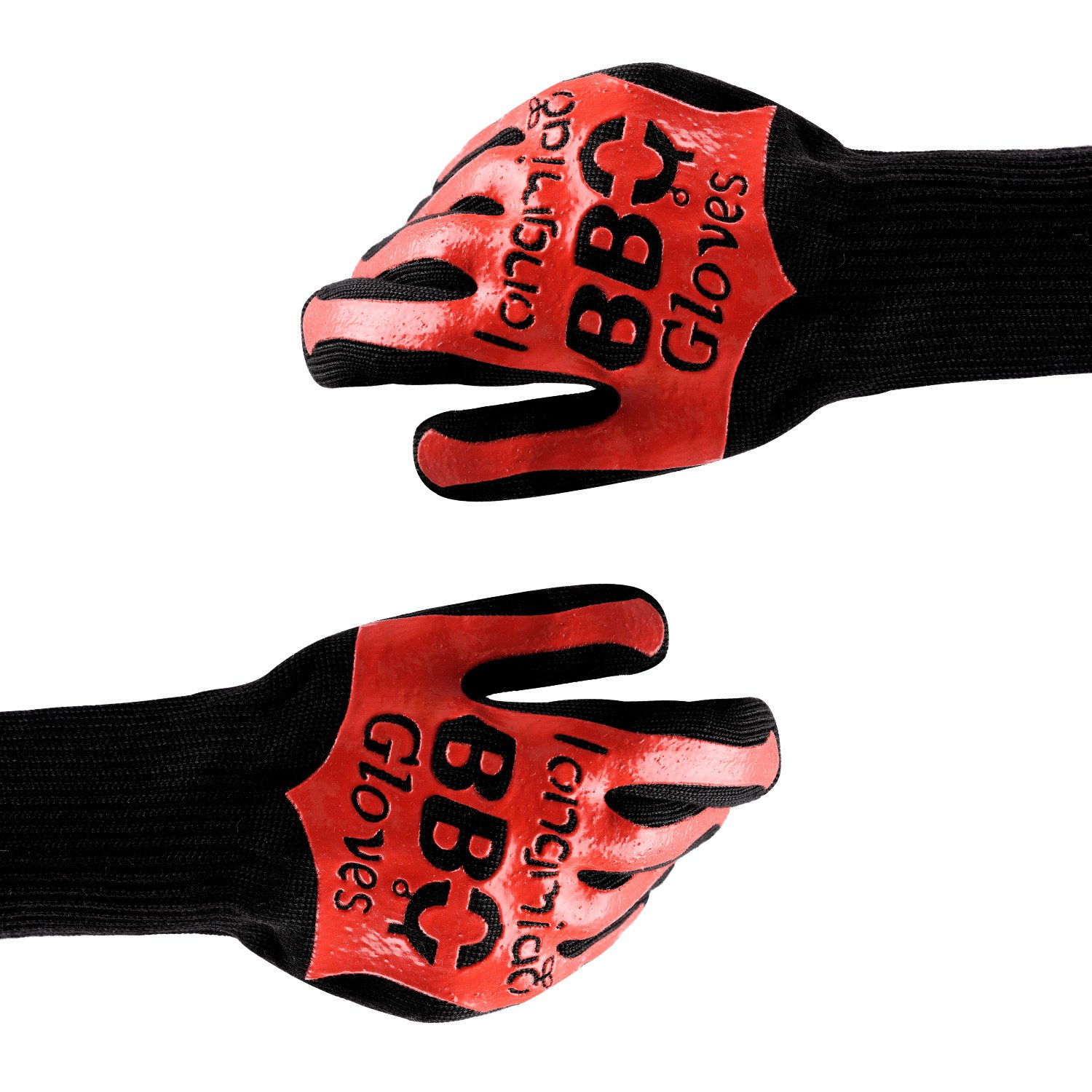 longmiao Thick BBQ Grill Gloves, Heat Resistant Barbecue Gloves for Cooking/Oven/Grilling 932°F Extreme by 1 Pair