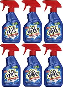 OxiClean Max Force Laundry Stain Remover Spray 12 Ounce, 6 Pack