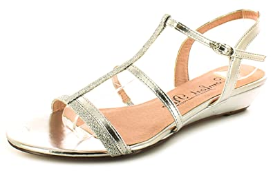 4c824a193f0 Comfort Plus Womens Ladies Silver Glitter Wide Fitting Strappy Sandals -  Silver - UK Size